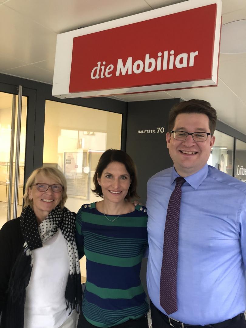 17.10.19 Wochenblatt Birseck «Saskia Schenker zu Besuch in Aesch»